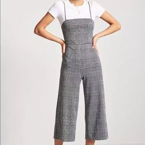 Glen Plaid Pantsuit by Forever 21